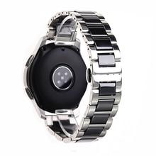 Pulsera de reloj de cerámica de acero inoxidable para samsung gear, correa de reloj deportivo para samsung gear s3 s2, banda de reloj galaxy de 20mm 22mm