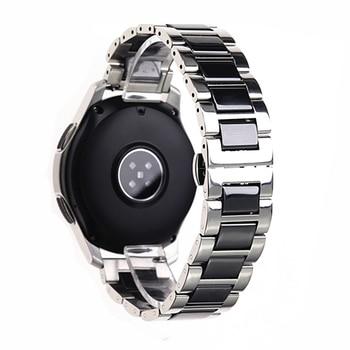Stainless Steel Silver Ceramic watch bracelet samsung gear sport watch strap gear s3 s2 band galaxy watch band 20mm 22mm