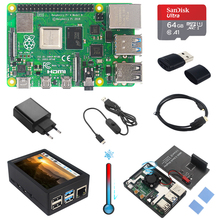 Case Heatsinks Power-Adapter Sd-Card Hdmi-Cable Touch-Screen Raspberry Pi 4-Model 4GB