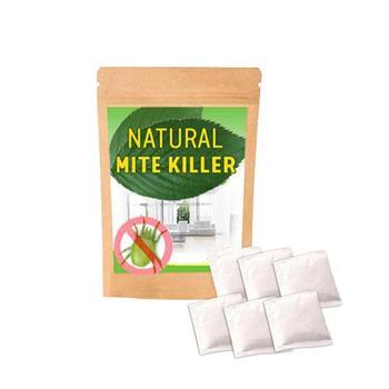 6PCS/Bags Dust Mites Kill Natural Herbal Mites Killer Exterminating Pad Killing Worms Anti-mite Pad Cushion Mite Control Powder