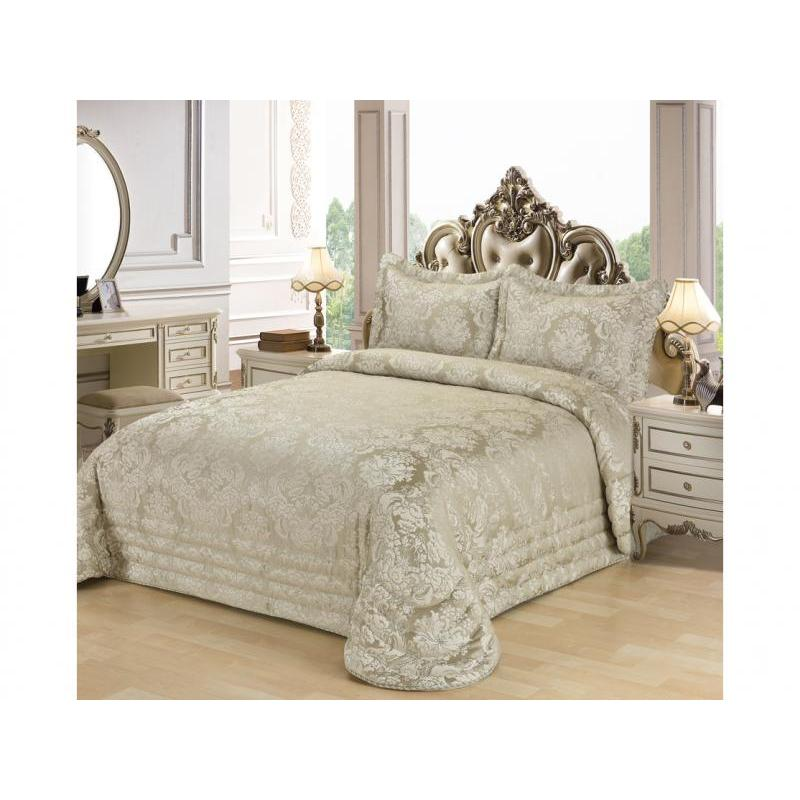 цена на Bedspread double KARNA, EVONY, 240*260 cm, визон