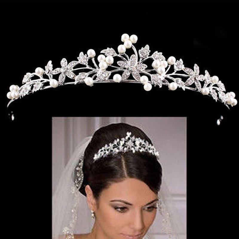 Rhinestone Pearl Bridal Crown Headband Headdress, Wedding Crown, Ladies Hair Accessories, Hair Accessories