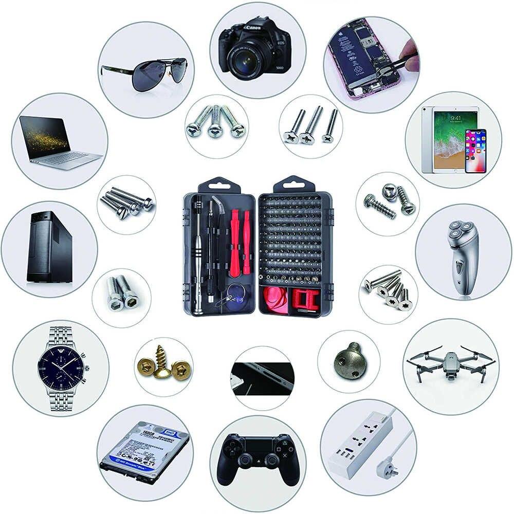 Conjunto de ferramentas mão 115 em 1 conjunto chave de fenda magnética torx multi kit ferramentas reparo do telefone móvel dispositivo eletrônico