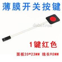 5 pçs/lote um-botão interruptor fino pvc pet painel de controle acessórios diy