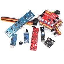 Módulo de sensor de desvio de obstáculo de rastreamento infravermelho robô de carro inteligente 3-wire reflexivo fotoelétrico 4way 5way para arduino