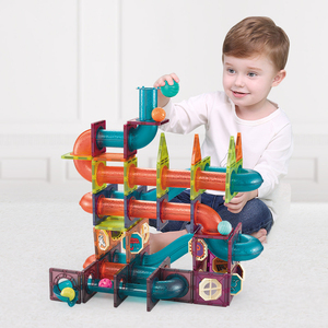 Magnetic building set track mo