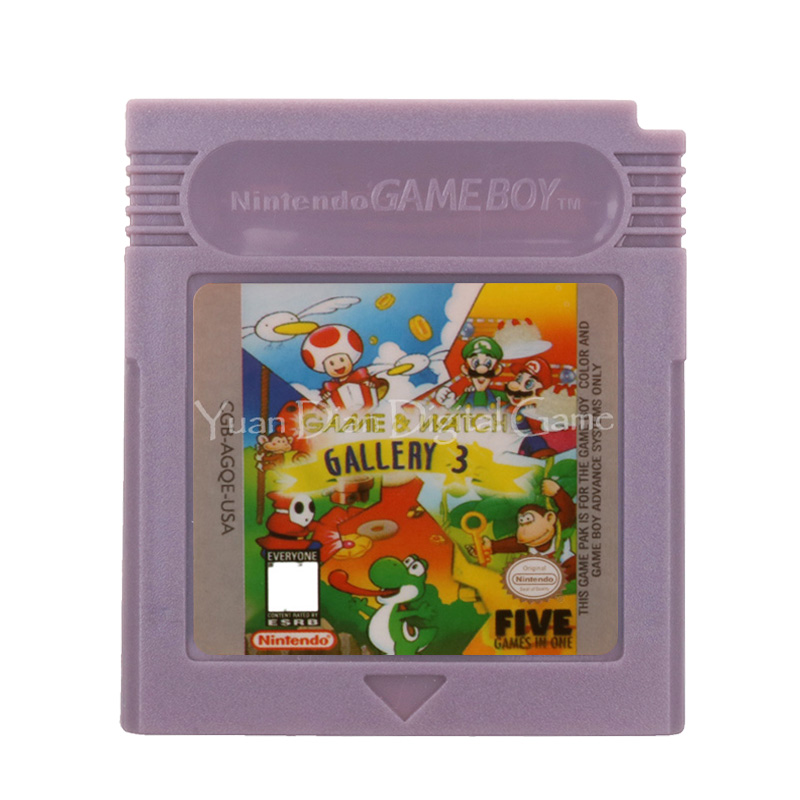 For Nintendo GBC Video Game Cartridge Console Card Game & Watch Gallery 3 English Language Version 1