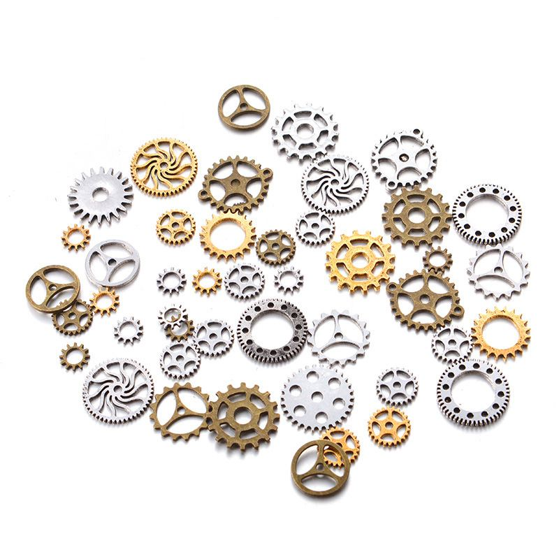 10Pcs Steampunk Machinery Gear Charms Vintage Zinc Alloy Jewelry Charms 26mm