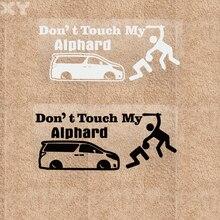 Xy marca de advertência não toque adesivos de vinil adesivos para alphard 20cm x 8cm