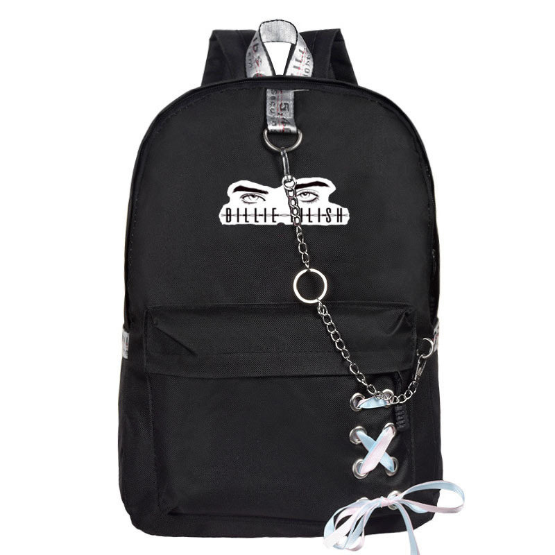 Billie Eilish Billie Avery What Related School Bag Backpack Canvas Bag Men's And Women's-Style Leisure Bag