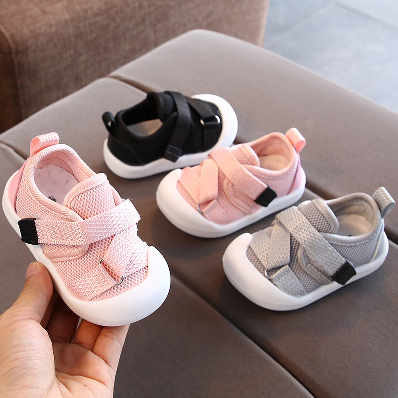 Comfortable Baby Shoes Magic Tape Kick Proof Sandals Soft Sole Children For Boys Girls Kids Toddler Shoes Walking Shoes