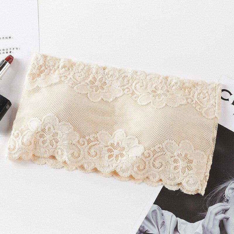 Sexy Strapless Bras Tube Tops Women Underwear Solid Lace Padded Bra Crop Tops Bustier Beachwear Lingerie Intimates 2