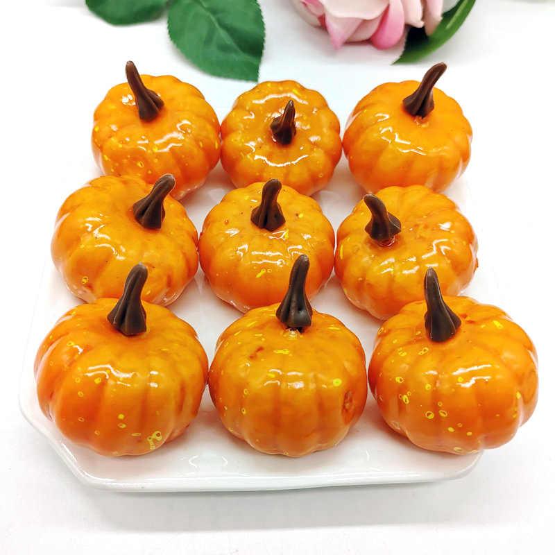 2 Warna 1/12 Pcs Mini Simulasi Halloween Buatan Labu Diy Thanksgiving Festival Pesta Dekorasi Palsu Sayuran Buah