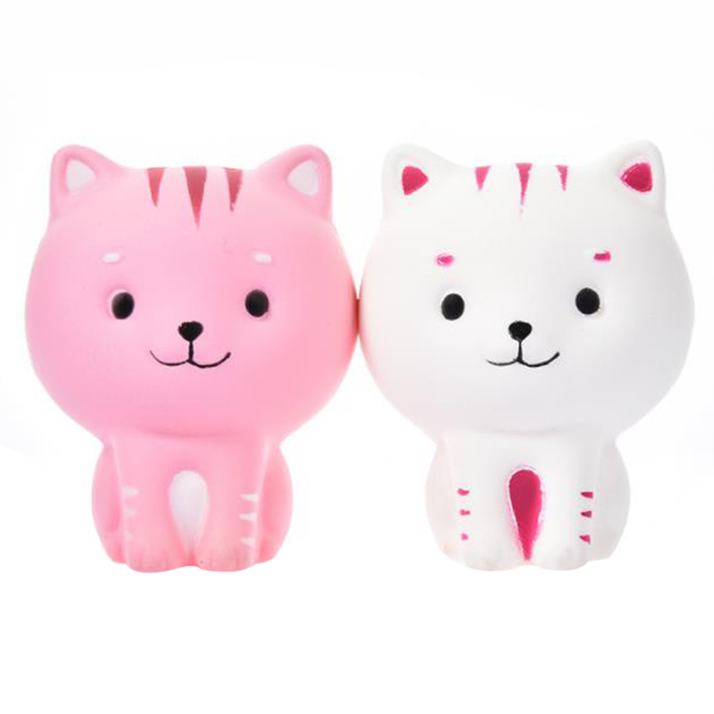 2020 Cute Cartoon Cute Cat Kitty Squishy Slow Rising Soft Squeeze Toys Cream Scented Stress Relief For Kid Xmas Gift