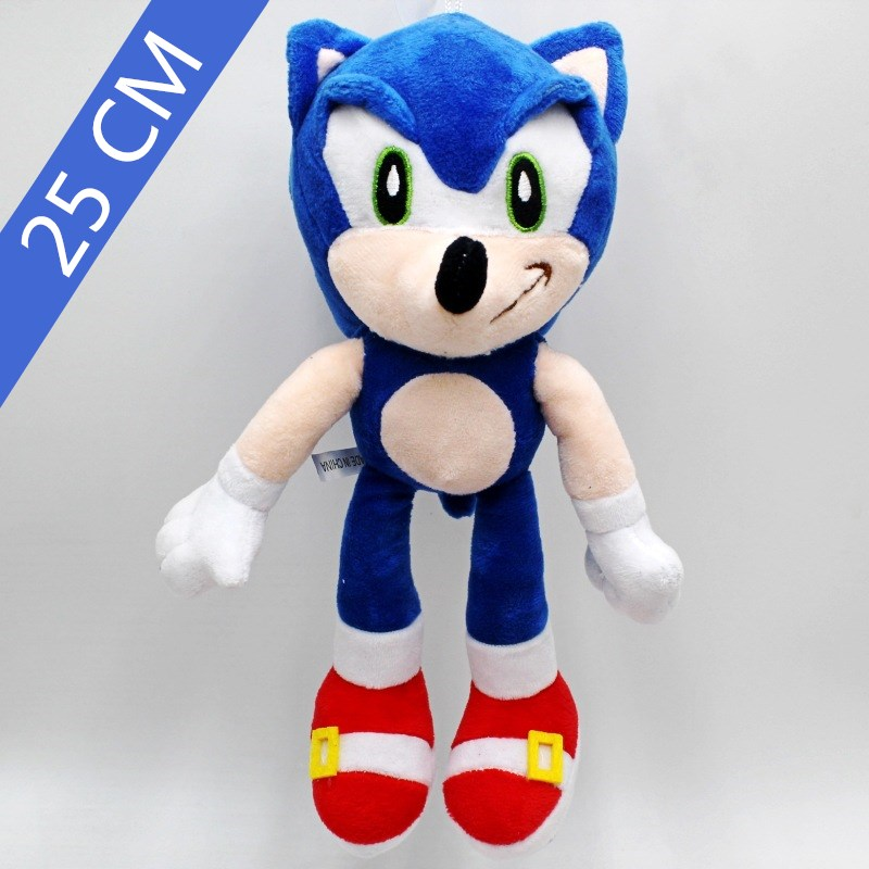 25cm Cartoon Soft  Sonic Plush Doll Blue Yellow Gray Red Sonic Dolls Toy Home Decoration Children's Birthday Christmas Gifts