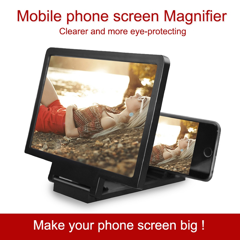 CASEIER 3D Screen Amplifier Mobile Phone Screen Video Magnifier For Cell Phone Smartphone Enlarged Screen Phone Stand Bracket