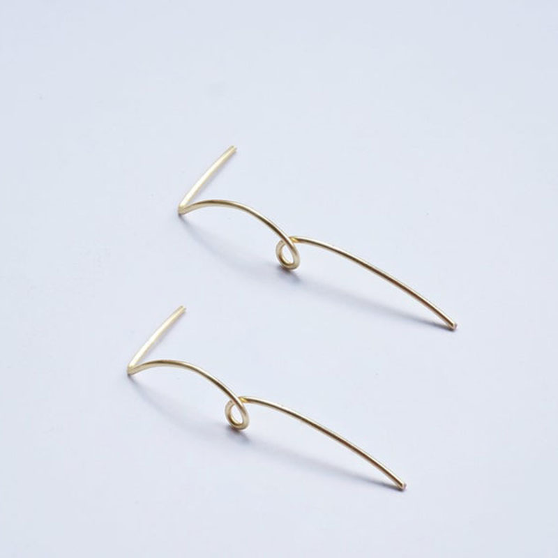 925 Silver Long Bar Earrings Handmade Jewelry Gold Filled Brincos Vintage Boho Jewelry Minimalism Oorbellen Earrings For Women