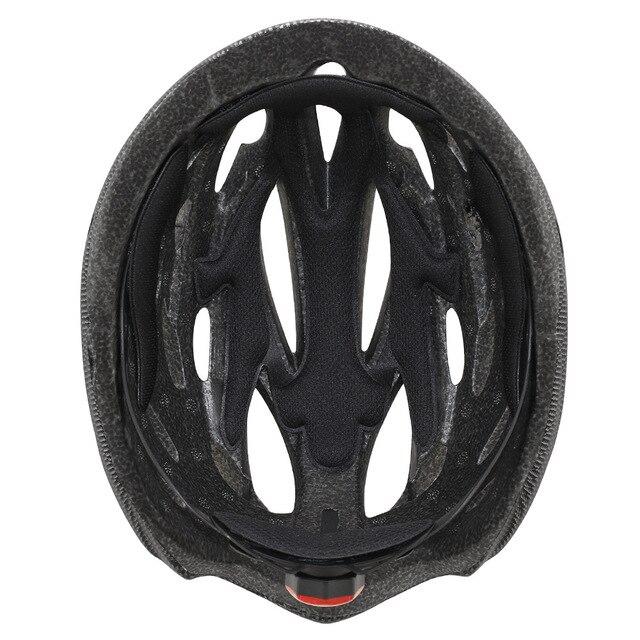 Intergrally-moldado mountain bike capacete com óculos removíveis viseira ajustável das mulheres dos homens bicicleta ciclismo taillight capacete 6