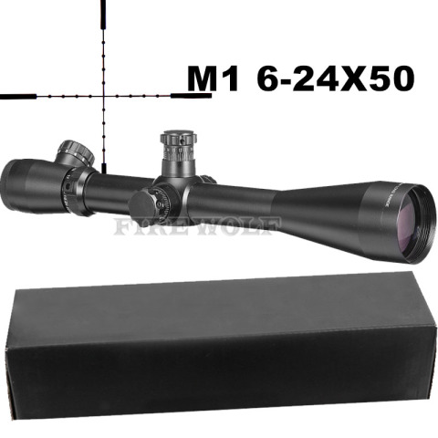 6 24x50 m1 optica tatica riflescope sniper caca rifle escopos de longo alcance rifle escopo