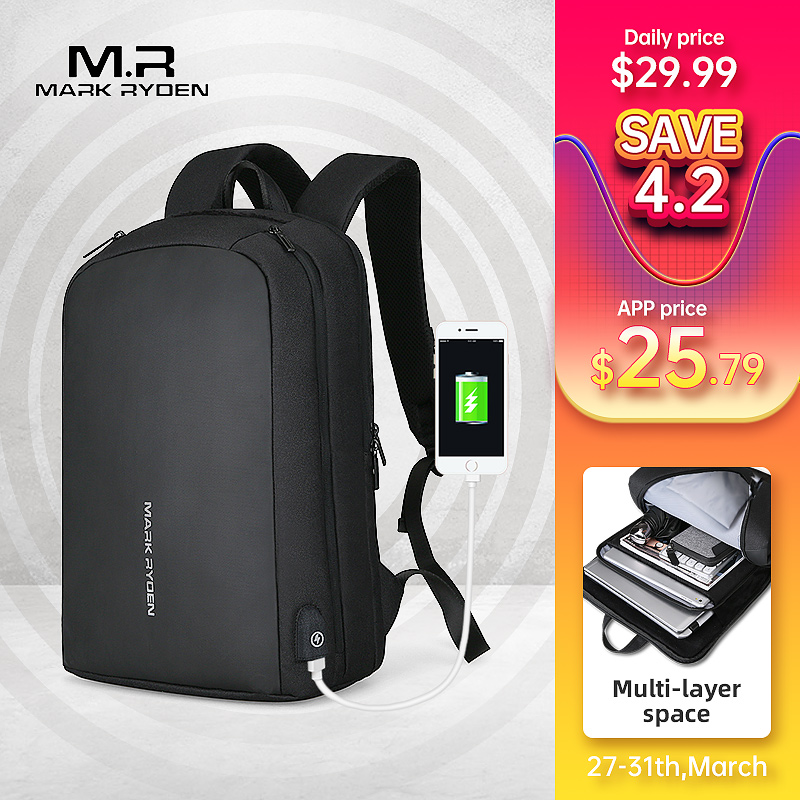 Mark Ryden Men Backpack Multifunction USB Recharging Can Fit 15.6inch Laptop Casual Backpacks For Male Backpacks     - title=