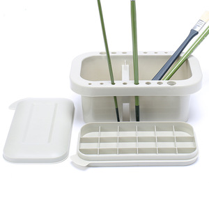 Image 5 - MyLifeUNIT Multifunction Paint Brush Basin with Brush Holder and Palette Watercolor Pen Acrylic oil Brush Wash Pen Bucket
