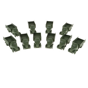 10pcs Plastic Green WWII Armored Vehicles Model Truck Toy Model DIY