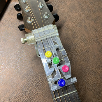 Acoustic Guitar Chord Buddy Teaching Aid Guitar Tool Guitar Learning System Teaching Aid Accessories for Guitar Learning