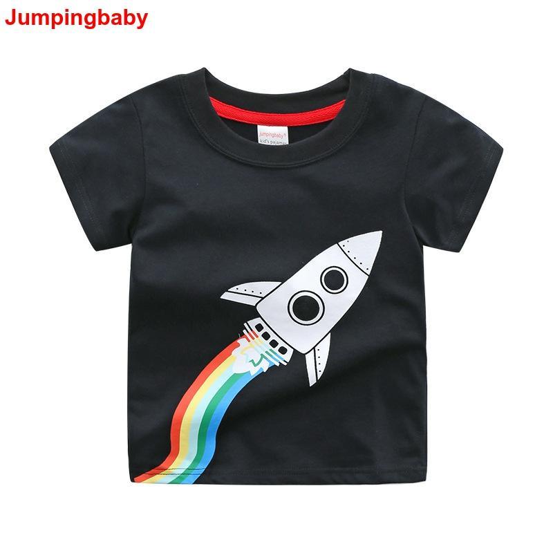 Jumpingbaby 2019 Boys T-shirt Summer Tops Kids Clothes Animal Print Tshirt Koszulka Dinosaur T-shirts Enfant Tee shirt Costumes