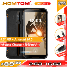 HOMTOM HT80 IP68 Waterproof Smartphone 4G LTE Android 10 5.5inch 18:9 HD+ MT6737 Quad Core NFC Wireless charge SOS Mobile phone