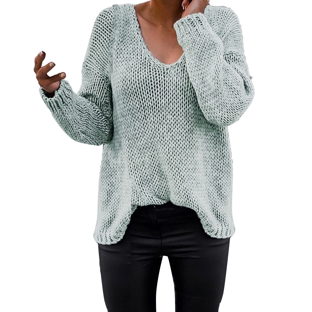 Women's Ladies Fashion Slim Loose Long Sleeve Sweater Tops Knitwear Blouse pull femme nouveaute 2020 winter clothes womens