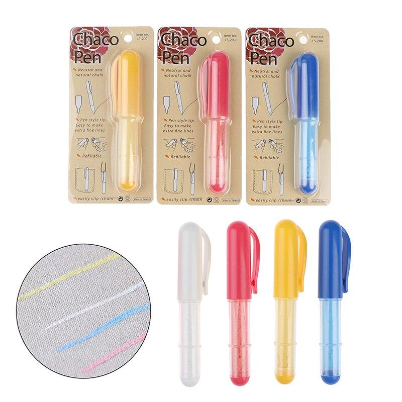 Caneta marcador de tecido sem corte, lápis de giz para costura, artesanato para costura, alfaiate, 1 peça acessórios