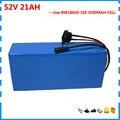 1000 Вт 52 в литиевый аккумулятор 14S 52 V 21AH скутер bateria 51 8 V Ebike batterie use 3500mah 18650 cell 30A BMS 2A зарядное устройство