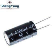 2 PIÈCES 50v4700uf 4700uf50v 18*35 50v 4700uf 18x35 Électro condensateur Électrolytique