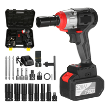 Impact-Wrench Torque Cordless Quick-Chuck Fast-Charger 980nm with 2x6.0a 200W