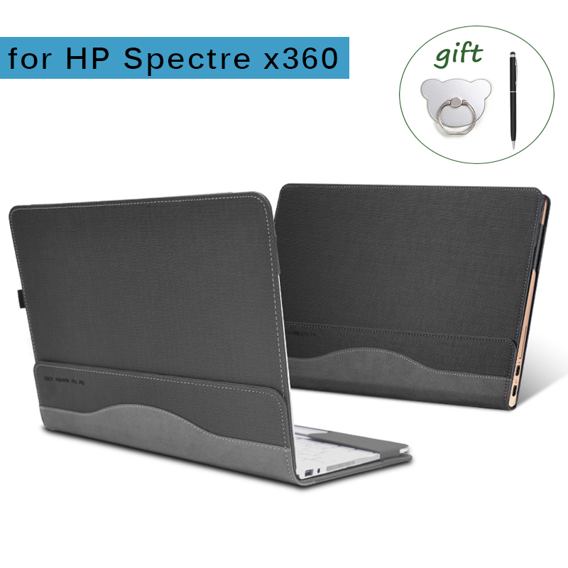 Laptop Case for HP Spectre X360 13.3 Inch PU Leather Detachable Notebook Cover HP Laptop Bag for Spectre X360 Series image