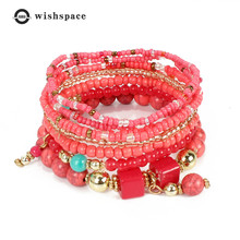 Fashion Bohemia multi-layer m bead bracelet with female fashion jewelry wholesale