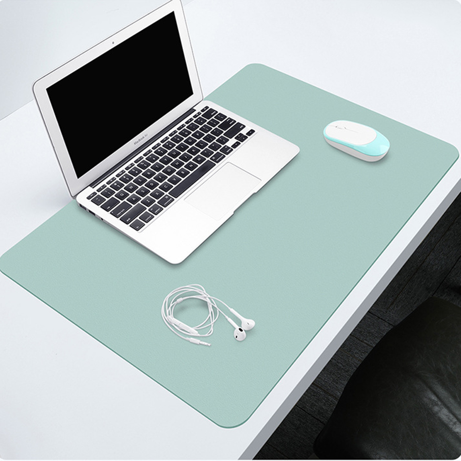 Desk Pad Portable Large Mouse Pad Waterproof PU Leather Suede Desk Mat Computer Laptop Mousepad Keyboard Anti-Slip Table Pad