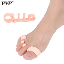 PVP Toe Separator Hallux Valgus Bunion Corrector Orthotics Feet Bone Thumb Adjuster Correction Pedicure Sock Straightener foot hallux valgus correct correction big toe bunion separator corrector orthotics toe separator bandage cover cocks bunion pads