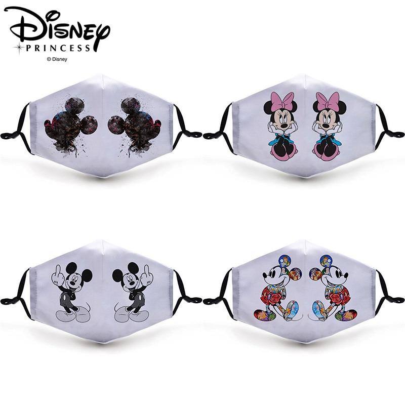 Disney Mickey Minnie Masks Adult Reusable Washable Anti-fog Dust-proof Breathable Adjustable Mask Unisex