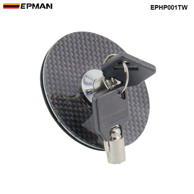 (BLACK CARBON Fiber  ) Flush Mount Hood Lock w/ Key Variable Mount For BMW 520i f10 EPHP001TW