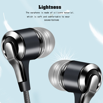 Xnyocn Earphones 3.5mm In-Ear 1.2m Wired Control Sport Headset Wired Headphones For Huawei Honor Smartphone With Microphone 4