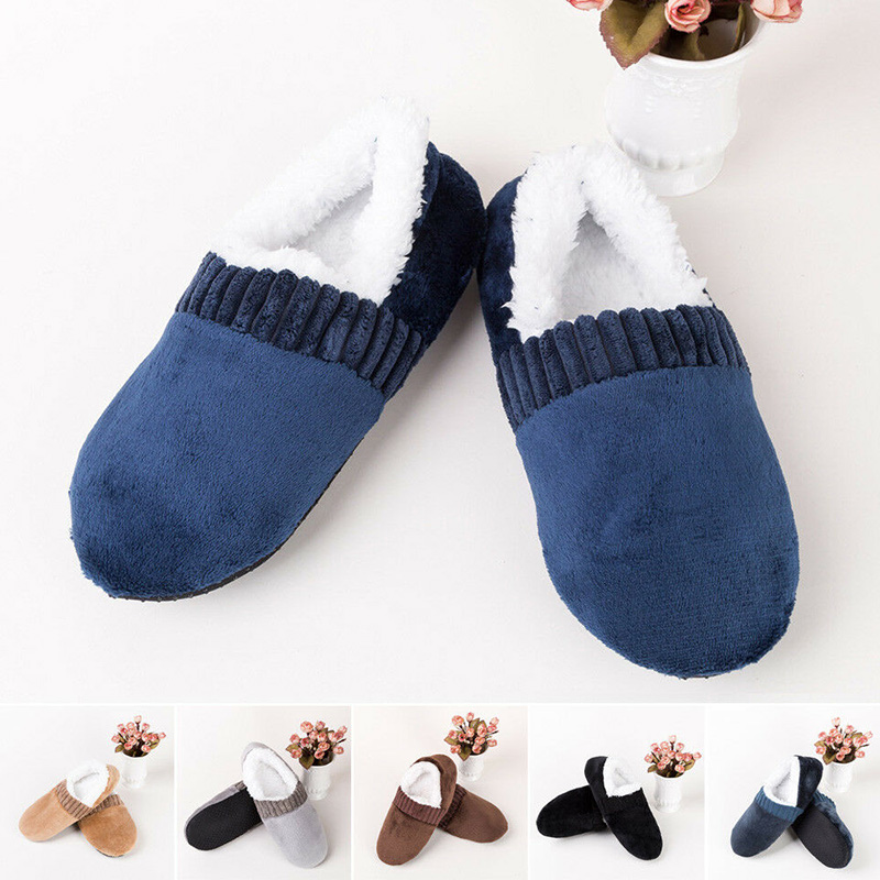 Men Soft Slippers House Floor Socks Anti-slip Indoor Winter Warm Slipper  C55