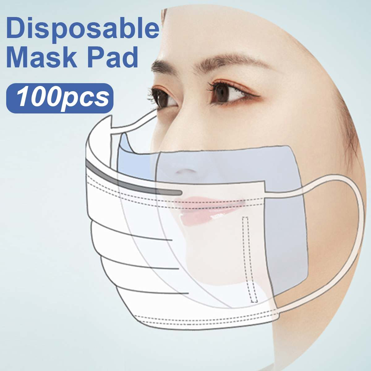 100/200pcs Disposable Filter Pad for Kids Adult Face Mask Respirator Dustproof Anti PM2.5 fit for N95 KN95 KF94 ffp3 2 1 Masks 1