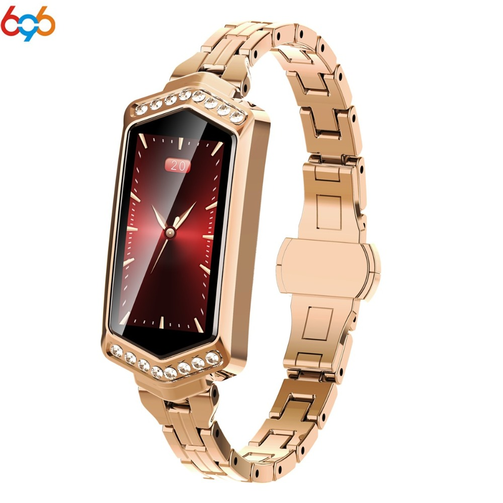 696 B78 Smart Watch Women 2019 Waterproof Heart Rate Monitoring Pedometer Bluetooth For Android IOS Fitness Bracelet Smartwatch
