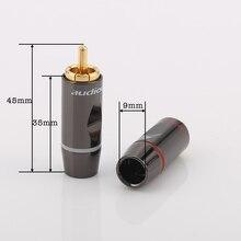 1Set Audiocrast R003 24k Solder Gold plated RCA Connectors Gold Plated RCA Plug Audio Male Connector Cables.