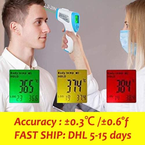 Bilgisayar ve Ofis'ten Dizüstü Bilgisayar Bataryaları'de Hızlı kargo teslimat AICARE A66 temassız alın IR kızılötesi termometre anlık okuma vücut yüzey sıcaklığı ölçümü title=