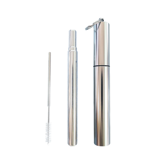 Reusable Foldable Metal Drinking Straw Set