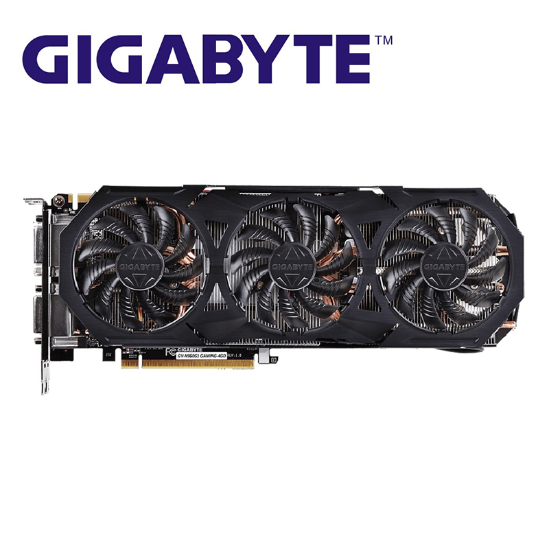 GIGABYTE GTX 960 <font><b>4GB</b></font> G1 Gaming Graphics Cards <font><b>GPU</b></font> 128Bit GTX960 G1 <font><b>4GB</b></font> Video Card For NVIDIA Geforce Video Card Hdmi Dvi Used image
