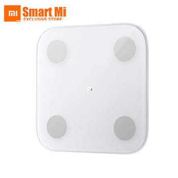 Xiaomi Mi Smart Body Fat Scale 2 Weighting Scale Mifit APP & Body Composition Monitor With LED Display Hidden And Big Feet Pad