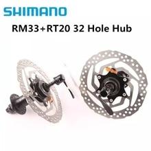 SHIMANO RM33+ RT20 160 мм концентратор и ротор 8 9 10 скорость MTB горный велосипед Центральный замок 32 отверстия диск с бисером тормоз велосипедный цикл концентратор